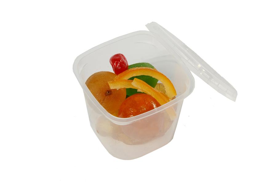Fruits confits en pot