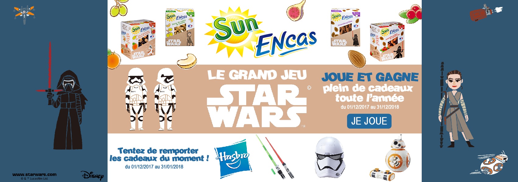 slider jeu encas star wars