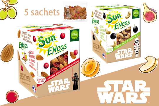 SUN encas star wars fruits secs à emporter